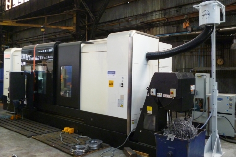 FX-5002, výškově stavitelný stojan, stroj MAZAK Integrex 420