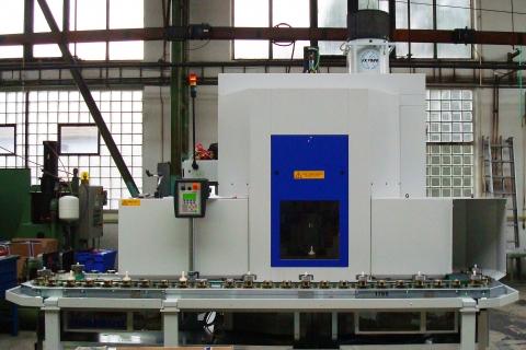 FX-7002 s HEPA filtrem, sklopný stojan, stroj LIEBHERR LC380