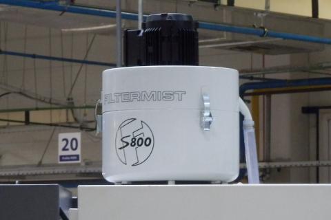 S-800, přímá montáž na střeše stroje
