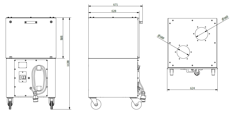 BOXAIR M2 - rozměry